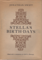 Stella's Birth-Days : Poems by Jonathan…