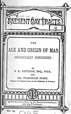 Age and Origin of Man, Geologically…