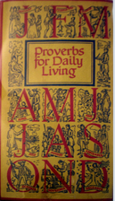Proverbs for Daily Living by Johannes Troyer
