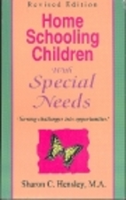 Home Schooling Children With Special Needs…