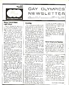 Gay Olympics Newsletter (Issue #3) by Gay…