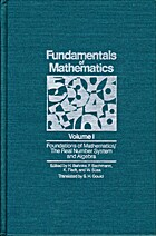 Fundamentals of Mathematics, Volume I:…