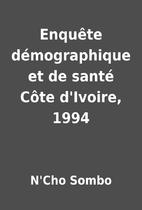 Enquête démographique et de santé Côte…