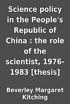 Science policy in the People's Republic of…