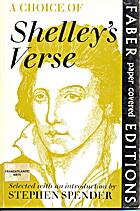 Choice of Shelley's Verse by Percy Bysshe…