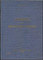 Codice delle biblioteche italiane by Ugo…