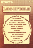 Logophile, The Cambridge Journal of Words,…