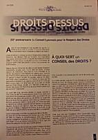 Droits dessus by Conseil Lyonnais pour le…