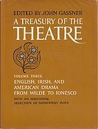 Treasury of the Theatre, A - Volume 3 Three…