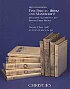 Fine printed books and manuscripts including…