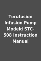 Terufusion Infusion Pump Modeld STC-508…