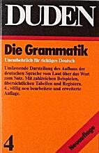 Duden die Grammatik by Drosdowski et al.