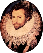 Author photo. Sir Walter Raleigh<br>Painting by Nicolas Hilliard, circa 1585 <br>(Yorck Project)