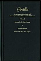 Sermons for the Trinity Season by Johann…