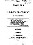 The Poems of Alllan Ramsay in two volumes by…