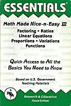 Nice & Easy Math III - Factoring Ratios…