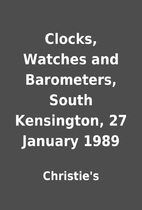 Clocks, Watches and Barometers, South…