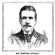 Author photo. Sketch of Stephen Bonsal, 1898, from The American monthly review of reviews, Volume 18