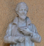 Author photo. Statue of St. Peter Canisius (Detail), Parish Church of St. Peter Canisius, Friedrichshafen, Germany. Photo by Andreas Praefcke / Wikimedia Commons