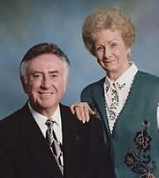 Author photo. Al Lacy (L) with wife & co-author JoAnna Lacy