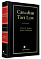Canadian tort law by Allen M. Linden