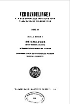 De Uma-taal (West Midden-Celebes ) ;…