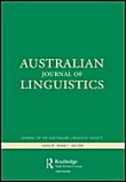 Australian journal of linguistics 13(1) by…