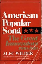 American Popular Song: The Great Innovators,…