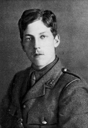 Author photo. Image from <b><i>For remembrance: soldier poets who have fallen in the war</i></b> (1920) by Arthur St. John Adcock