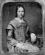 Author photo. Eliza R. Snow, 1804-1887 ~ Courtesy of Cyberhymnal.org