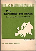 The scramble for Africa; causes and…