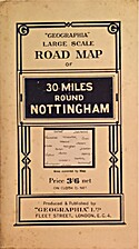 Geographia Large Scale Road Map of 30 Miles…