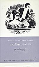 Erzählungen by Villiers de l'Isle-Adam