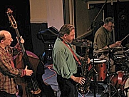Author photo. Jerry Bergonzi (center) at Bennett Alliance