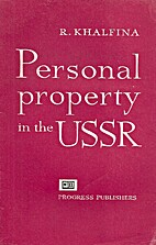 Personal property in the USSR. by R.…