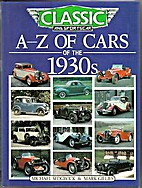 A-Z of Cars of the 1930s by Michael Sedgwick