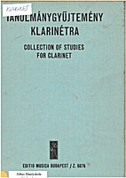 Collection of studies for clarnet by György…