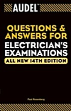 Audel Electrician's Exam Preparation by Paul…