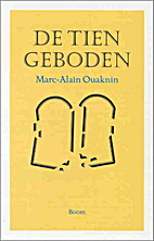 De Tien Geboden by Marc-Alain Ouaknin