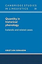 Quantity in historical phonology : Icelandic…