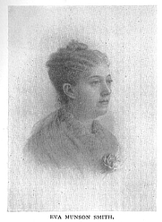 Author photo. Eva Munson Smith (b.1843), Buffalo Electrotype and Engraving Co., Buffalo, N.Y.