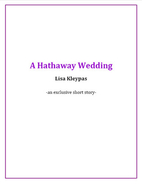 A Hathaway Wedding by Lisa Kleypas