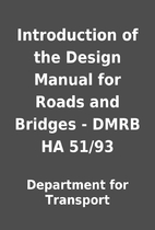 Introduction of the Design Manual for Roads…