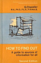 How to find out: A guide to sources of…