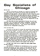 Gay Socialists of Chicago Statement of…