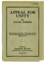 Appeal for unity by Daniel Sommer