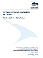 Networking and Innovation in the UK: A…
