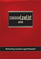 Canadian law list, 2015 by Judy Antoniadis