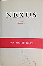 Nexus 1999 nummer 25: Het menselijk tekort
