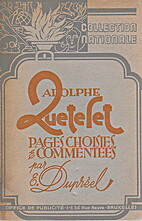 Ad. Quetelet by E. Dupreel